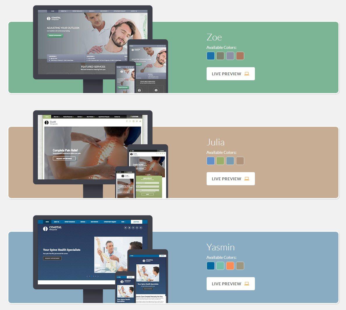 Design Gallery Live Chiropractor Design Gallery Chiropractic Web Design